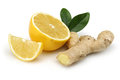 Fresh lemon with ginger Royalty Free Stock Photo