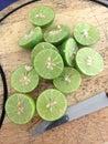 Fresh lemon green and slice Stock Photography