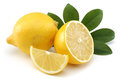 Fresh lemon the isolated white background Royalty Free Stock Image
