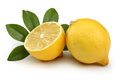 Fresh lemon the isolated white background Royalty Free Stock Photography
