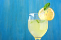 Fresh lemon juice. Royalty Free Stock Photo