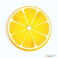 Fresh lemon slice icon on a white Royalty Free Stock Photo
