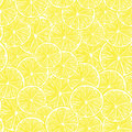 Fresh lemon slices seamless pattern