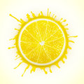 Fresh lemon with splash eps vector illustration Royalty Free Stock Photography