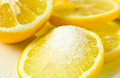 Fresh lemon with sugar Stock Photos