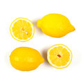 Fresh lemon on white clipping path included Stock Image