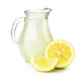 Fresh lemonade isolated on white background Royalty Free Stock Photography