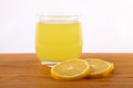 Fresh lemonade natural on a wood plate Royalty Free Stock Photography
