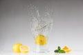 Fresh lemonade. Splash. Royalty Free Stock Photo