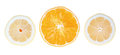 Fresh lemons oranges cut white background Royalty Free Stock Photo