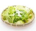 Fresh lettuce salad on white background Stock Photo