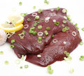 Fresh liver Stock Photography