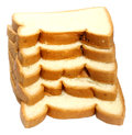 Fresh loaves over white background Royalty Free Stock Image
