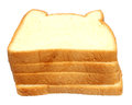 Fresh loaves over white background Stock Photography