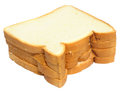Fresh loaves over white background Royalty Free Stock Photos