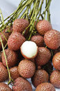 Fresh lychees Royalty Free Stock Photo