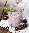 Fresh made Cherry Smoothie Royalty Free Stock Photo