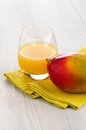 Fresh mango juice and fruit Stock Image