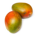 Fresh mangoes isolated on a white studio background Stock Photography