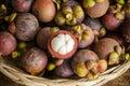 Fresh mangosteen fruit Royalty Free Stock Photo