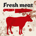Fresh meat, beef Royalty Free Stock Photos