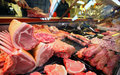 Fresh meat purchase photo of Royalty Free Stock Images