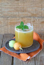 Fresh melon juice glass of Royalty Free Stock Images