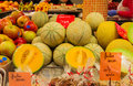 Fresh melon in la boqueria market in barcelona spain Royalty Free Stock Photo