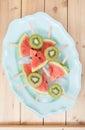 Fresh melon popsicles Royalty Free Stock Photo