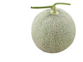 Fresh melons isolate white background with clipping path Royalty Free Stock Photo