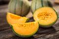 Fresh melons Royalty Free Stock Photo