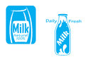 Fresh milk emblems and symbols isolated on white for dairy products design Royalty Free Stock Photo