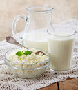 Fresh milk products Stock Photos