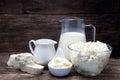 Fresh milk products Royalty Free Stock Photo