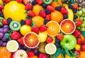 Stock Photo Fresh mixed fruits.