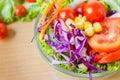 Fresh mixed vegetables salad. Royalty Free Stock Photo