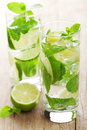 Fresh mojito cocktail closeup shot of Royalty Free Stock Image