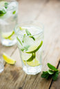 Fresh mojito on a old wooden table Royalty Free Stock Photography