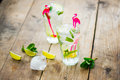 Fresh mojito on a old wooden table Royalty Free Stock Image