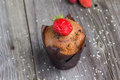 Fresh muffin with berries