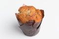 Fresh muffin on white background