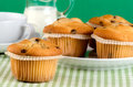 Fresh muffins on the table Royalty Free Stock Images