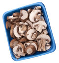 Fresh Mushroom Slices Stock Images