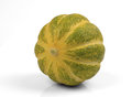 Fresh muskmelon on white background Royalty Free Stock Photo