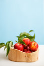 Fresh nectarines in the bowl Royalty Free Stock Images