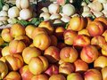 Fresh Nectarines For Sale Royalty Free Stock Photo