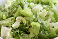 Fresh oily organic salad picture of a Royalty Free Stock Images