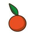 Fresh orange citrus fruit icon design