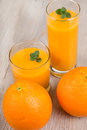 Fresh orange and ginger smoothie drink Royalty Free Stock Photo