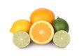 Fresh orange lemon and citrus fruits Royalty Free Stock Photos